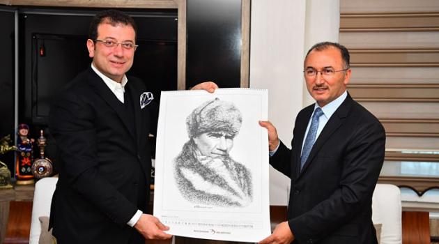 AK Partili Başkan'dan CHP'li Başkana Atatürk Portesi!..