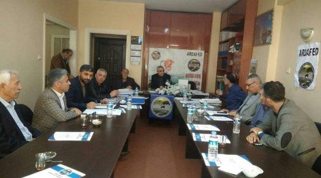 ARDAFED Yönetimi 19-24 Nisan'da Yapılacak Olan Ardahan Günleri İçin Bir Aradaydılar..