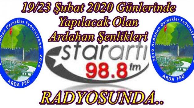 ARDAHAN'IN 99. YIL DÖNÜMÜ STARARTI 98.8 FM ADLI RADYO'DA..