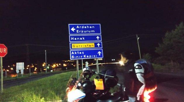 Doktorun Babası Motosiklet Konvoyu ile Afyon'dan Ardahan'a Geldi.