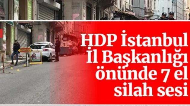 HDP, HDP'YE YAPILAN SALDIRIYI KINADI!