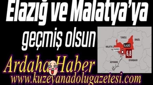 ARDAHAN'DAN DEPREM BÖLGESİNE EKİP..