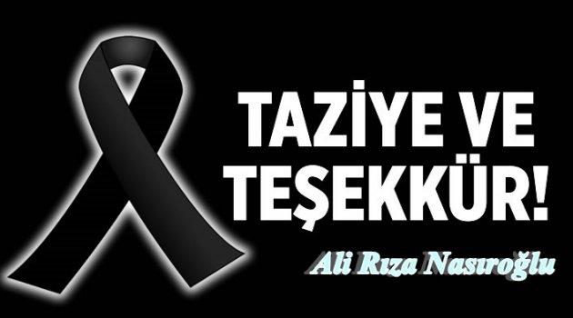 Nasıroğlu'ndan Herkese Teşekkür...