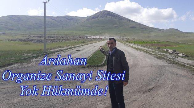 Sözde (!) Ardahan Organize Sanayi Sitesi ve Sanayi Sitesi Yolu Gibi Kendisi de Yok Hükmünde..