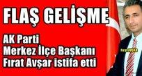 ARDAHAN HABERLERİ.. AK Parti Merkez  İlçe Başkanı İstifa Etti, Sıra İl Başkanında!
