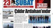 'ÇILDIR GÖLÜ ARDAHANINDIR' HABERİ TÜM ULUSAL BASINDA YER BULDU!..